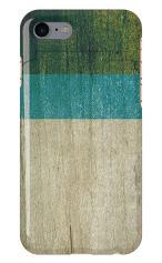 iPhone7対応のミラーつきケース、ウッド・ブルー×グリーン
