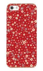 iPhone5対応のマットケース、乙女フラワー