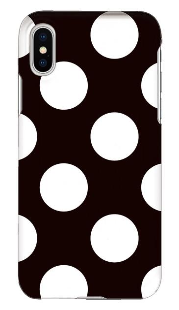 iPhoneXSのケース、Largeドット【スマホケース】