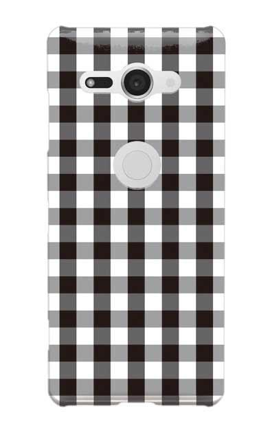 Xperia XZ2 Compactのケース、Gingham Check Medium【スマホケース】