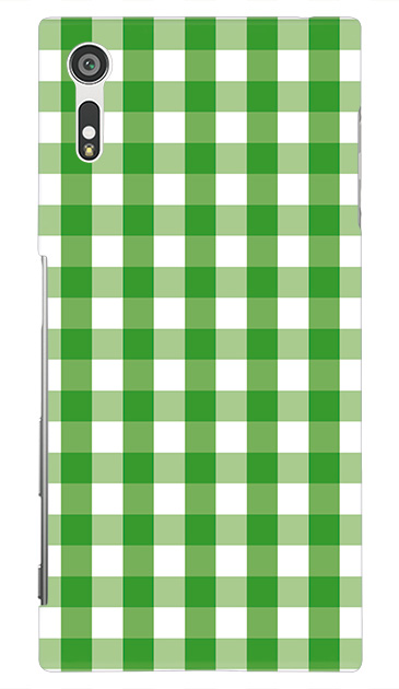 Xperia XZのハードケース、Gingham Check Medium