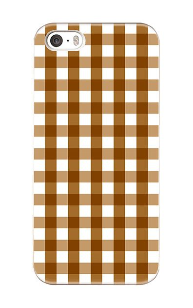 iPhoneSEのハードケース、Gingham Check Medium