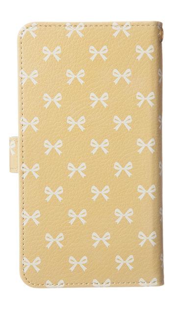 Xperia Z5の手帳型ケース、Medium リボン【スマホケース】