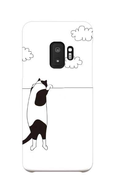Galaxy S9のケース、夢中に覗く三毛ねこ【スマホケース】