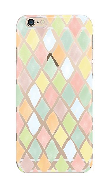 iPhone6sのクリア(透明)ケース、やさしいひし形【スマホケース】