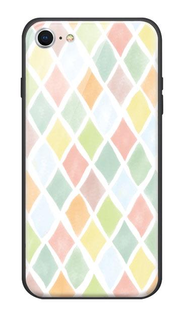 iPhone7のケース、やさしいひし形【スマホケース】