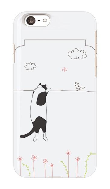 iPhone6sのミラー付きケース、もっと覗く三毛ねこ【スマホケース】