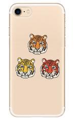 iPhone7対応のクリアケース、三つ子のタイガー【スマホケース】