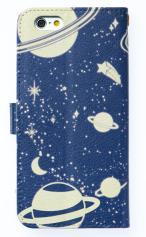 iPhone7対応の手帳型ケース、土星の環