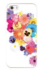 iPhone5対応のツヤ有りケース、花のワルツ
