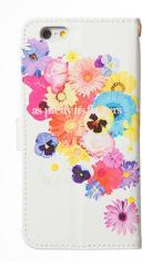 iPhone6対応の手帳型ケース、花のワルツ
