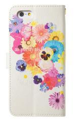 iPhone7対応の手帳型ケース、花のワルツ