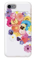 iPhone7対応のミラーつきケース、花のワルツ