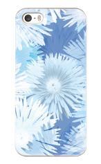 iPhone5対応のツヤ有りケース、グラデーションフラワー・BLUE