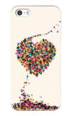 iPhone5対応のツヤ有りケース、星屑LOVE!