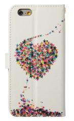 iPhone7対応の手帳型ケース、星屑LOVE!