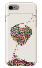 iPhone7対応のミラーつきケース、星屑LOVE!