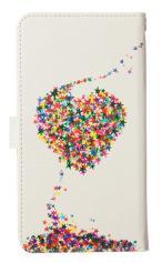 Xperia Z5(SO-01H・SOV32・501SO)対応の手帳型ケース、星屑LOVE!