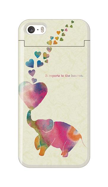 iPhone5Sのミラー付きケース、天まで伝えるゾウ【スマホケース】