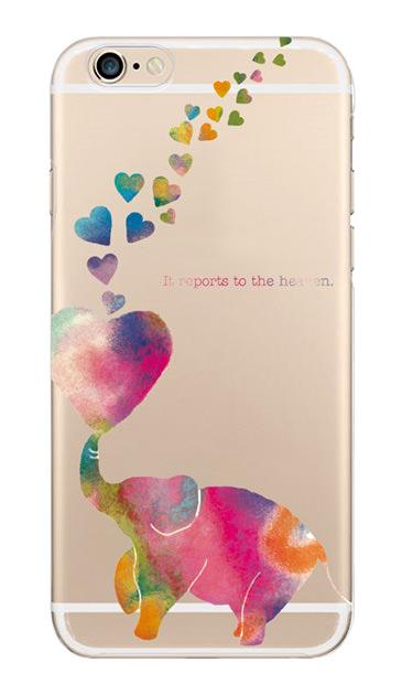 iPhone6sのクリア(透明)ケース、天まで伝えるゾウ【スマホケース】