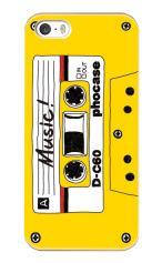 iPhone5対応のツヤ有りケース、カセットテープ