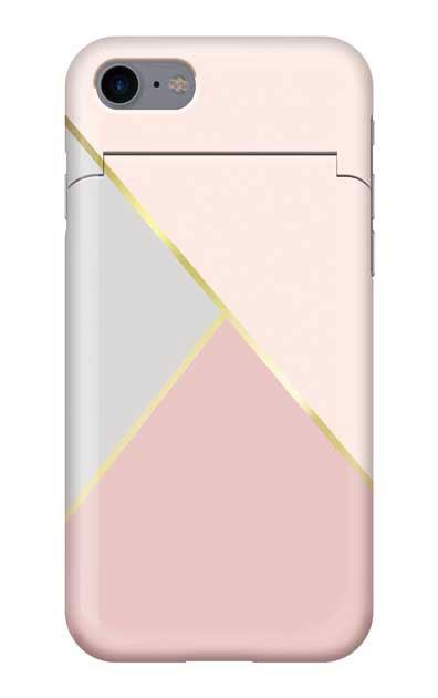 iPhone7のミラー付きケース、シャドウパレット【スマホケース】