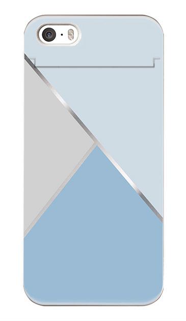iPhoneSEのミラー付きケース、シャドウパレット【スマホケース】