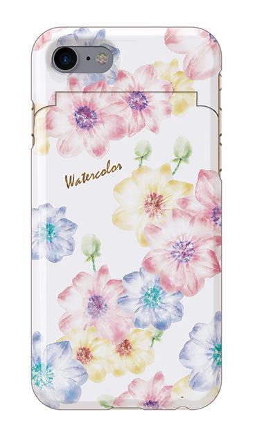 iPhone7のミラー付きケース、Aromaフラワー【スマホケース】