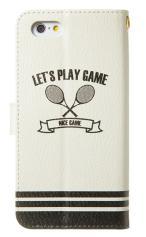 iPhone7対応の手帳型ケース、テニス部エンブレム