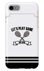 iPhone7対応のミラーつきケース、テニス部エンブレム