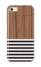 iPhone5S対応のミラーつきケース、Wood Blind