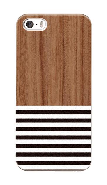 iPhoneSEのハードケース、Woodボーダー【スマホケース】