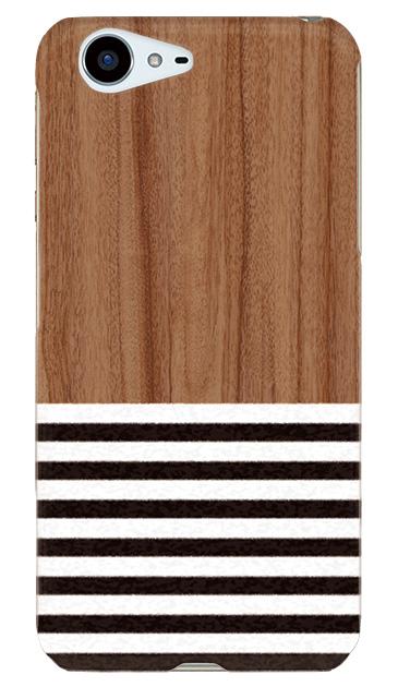 AQUOS ZETAのケース、Woodボーダー【スマホケース】