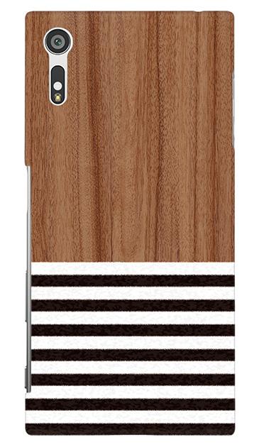 Xperia XZのケース、Wood Blind