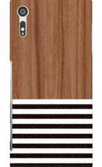 Xperia XZ(SO-01J・SOV34・601SO)対応のツヤ有りケース、Wood Blind