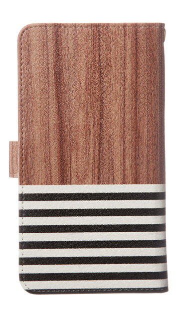 Xperia XZのケース、Woodボーダー【スマホケース】