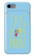 iPhone7対応のミラーつきケース、THIS IS MY PHONE