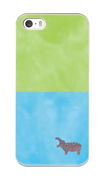 iPhoneSEのケース、地上水中カバさん【スマホケース】