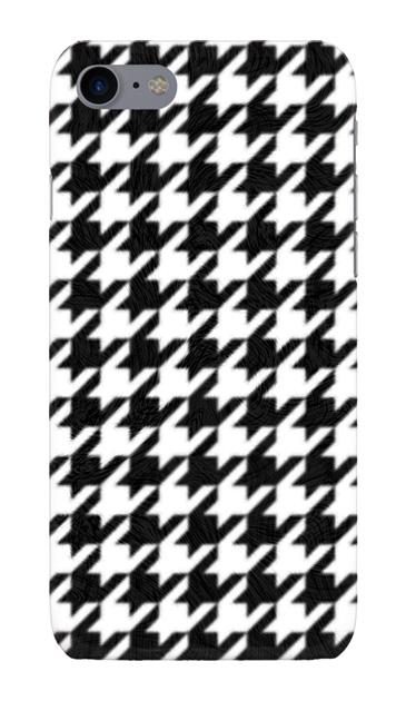 iPhone7のハードケース、千鳥格子パターン【スマホケース】