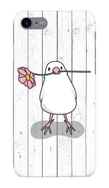 iPhone7のケース、幸せを運ぶ白文鳥【スマホケース】
