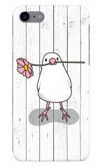 iPhone7対応のハードケース・ツヤ有り、幸せを運ぶ白文鳥【スマホケース】