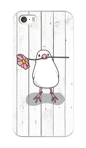 iPhoneSEのハードケース、幸せを運ぶ白文鳥【スマホケース】