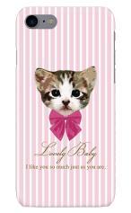 iPhone7対応のハードケース・ツヤ有り、Lovely Babyねこ【スマホケース】