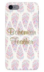 iPhone7対応のツヤ有りケース、Bohemian Feathers