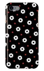 iPhone7対応のミラーつきケース、ドットDaisy・フラワー【スマホケース】