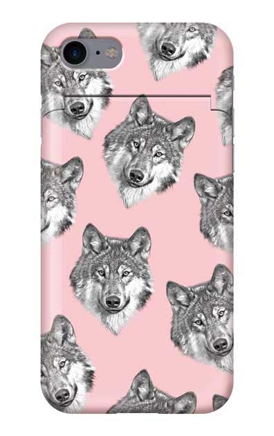 iPhone7のケース、オオカミ集合【スマホケース】