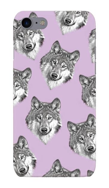iPhone8のハードケース、オオカミ集合【スマホケース】