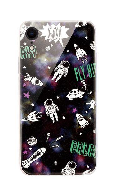 iPhoneXRのケース、FUNKY宇宙【スマホケース】