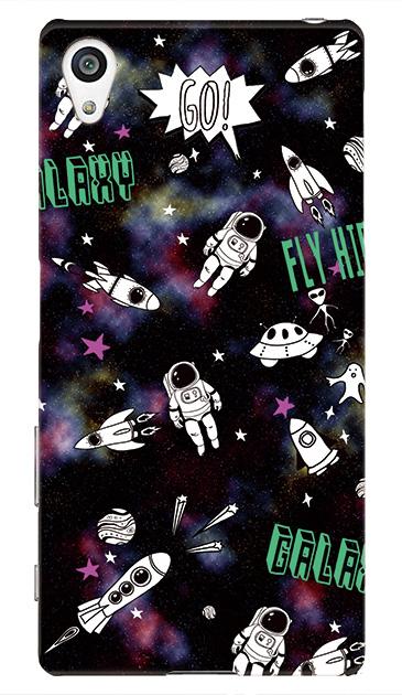 Xperia Z5のケース、FUNKY宇宙【スマホケース】