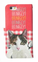 iPhone7対応の手帳型ケース、HUNGRY CAT